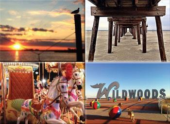 Collage of Summer fun at Wildwood Crest, NJ